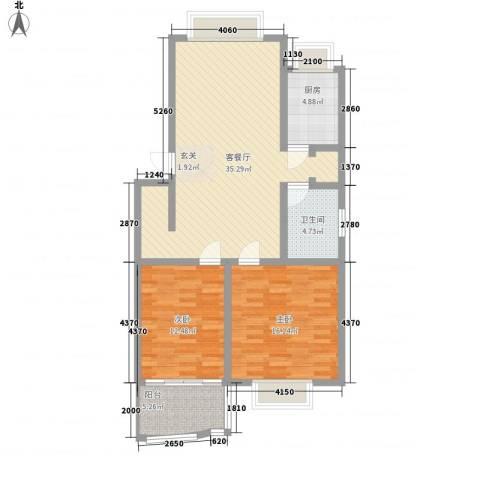 康和苑2室1厅1卫1厨113.00㎡户型图
