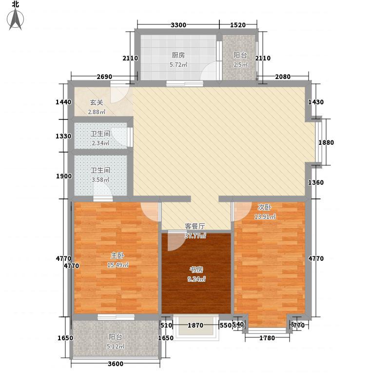 陈家寨电信133.00㎡小区0000185337户型3室2厅2卫1厨