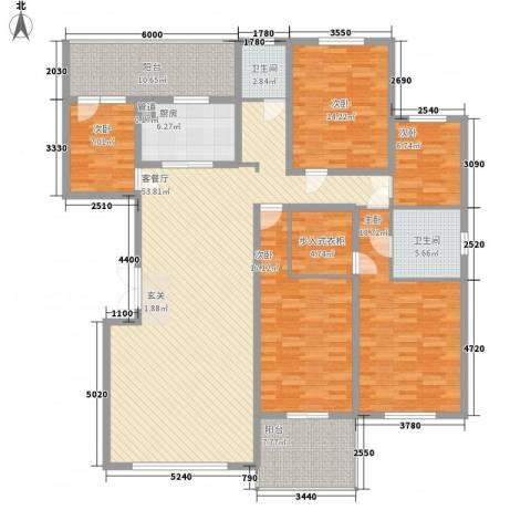 锦泽苑5室1厅2卫1厨218.00㎡户型图