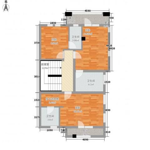 香醍荣府3室0厅3卫0厨110.00㎡户型图