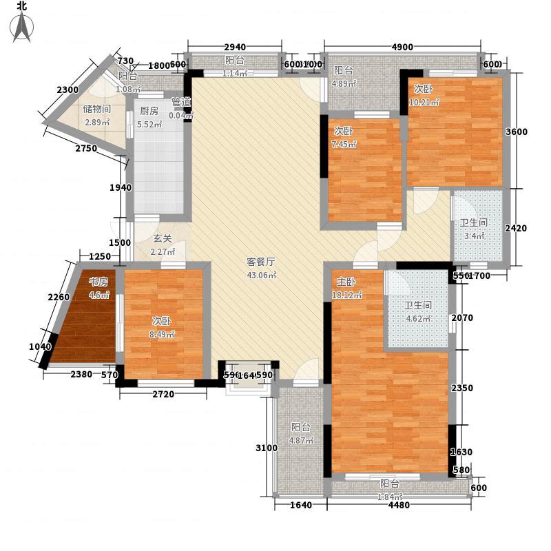 东泰花园东泰花园4室2厅2卫户型4室2厅2卫