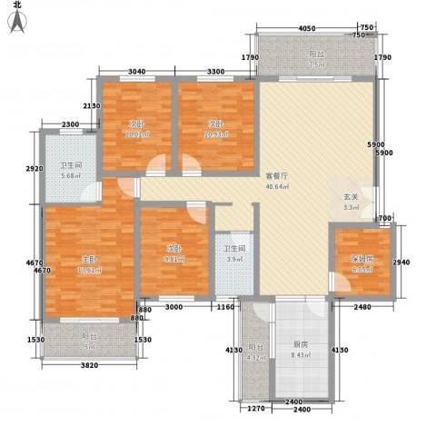 映湖山庄4室1厅2卫1厨300.00㎡户型图