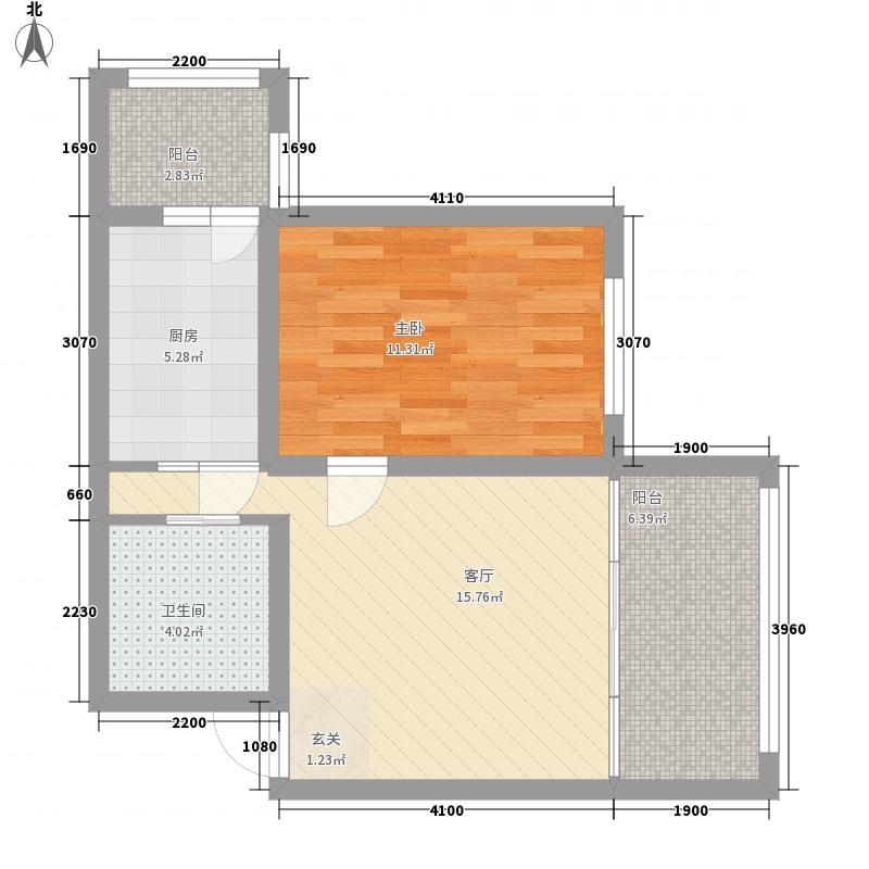 紫金宫庭36.94㎡紫金宫庭户型图二期小公寓E户型1室1厅1卫1厨户型1室1厅1卫1厨