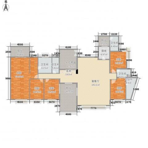 城市花园5室1厅5卫1厨319.55㎡户型图