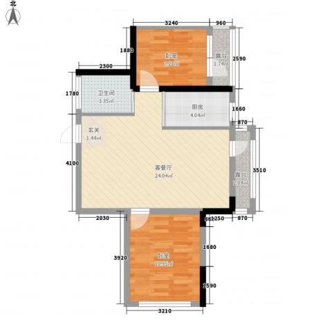 地铁名典小区1厅1卫1厨83.00㎡户型图