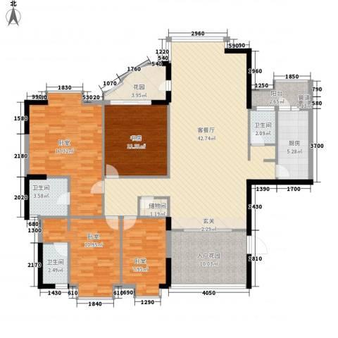 怡翠花园1室1厅3卫1厨170.00㎡户型图