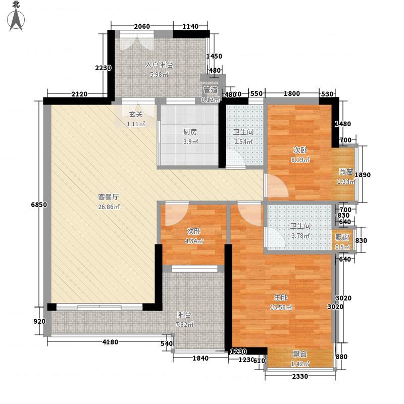 颐澳湾110.00㎡颐澳湾户型图3座04单位3室2厅2卫1厨户型3室2厅2卫1厨