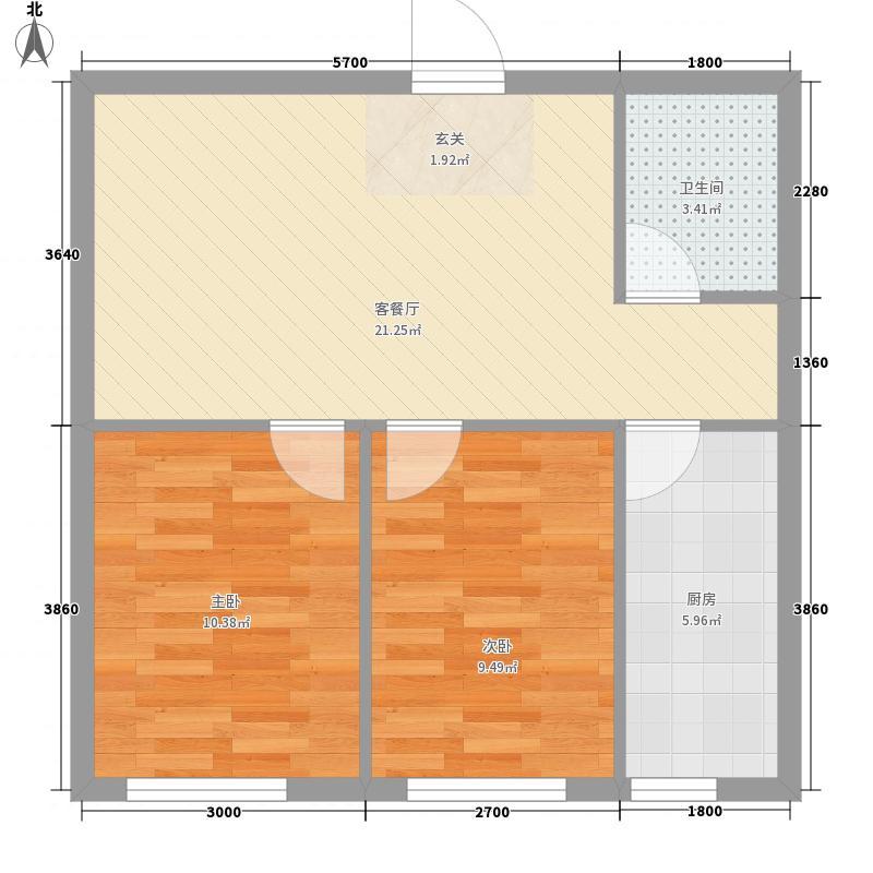 廊桥国际69.64㎡廊桥国际户型图E型2室1厅1卫户型2室1厅1卫