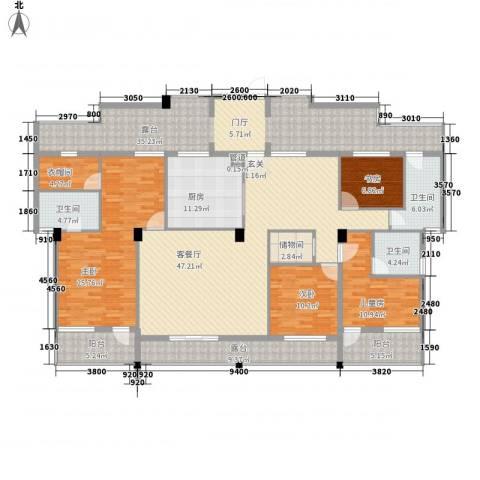 假日湾4室1厅3卫1厨189.52㎡户型图