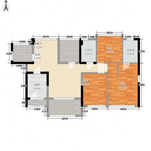 佳兆业水岸豪门3室1厅2卫1厨115.00㎡户型图