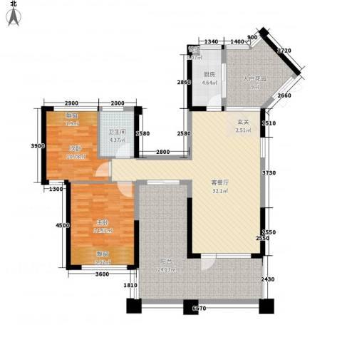 湖畔春天2室1厅1卫1厨112.62㎡户型图