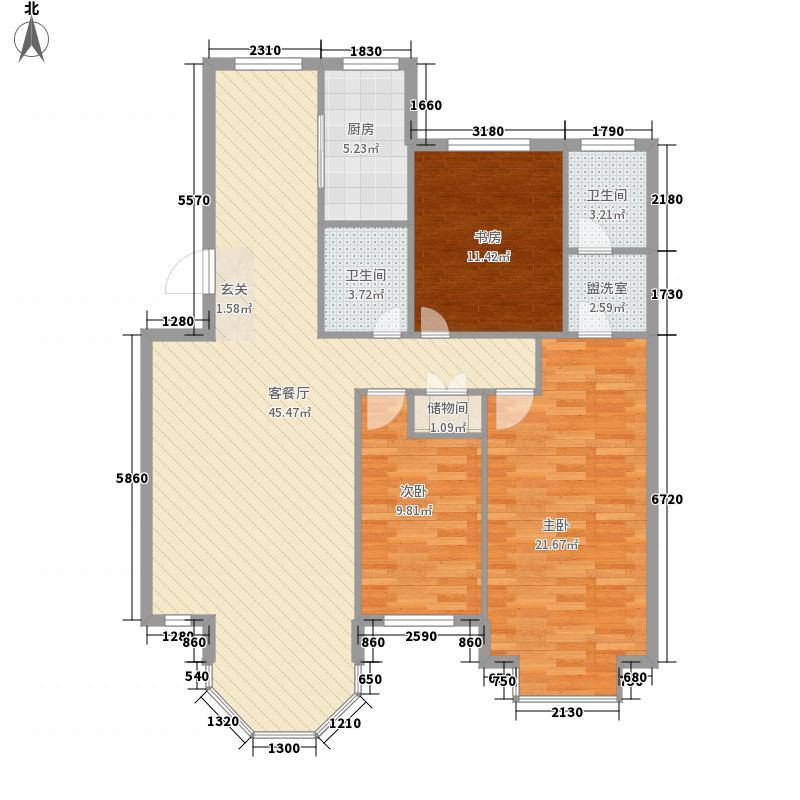 新星壹品小区翠庭1#-8#143.00㎡F户型3室2厅2卫