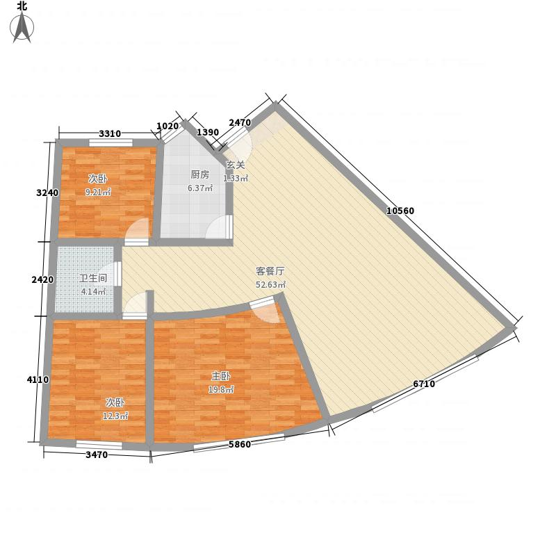奉青花园146.23㎡户型3室2厅2卫1厨