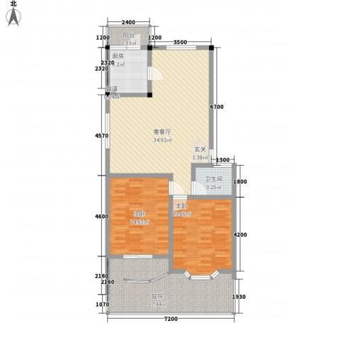 雅丽花园三期2室1厅1卫1厨129.00㎡户型图