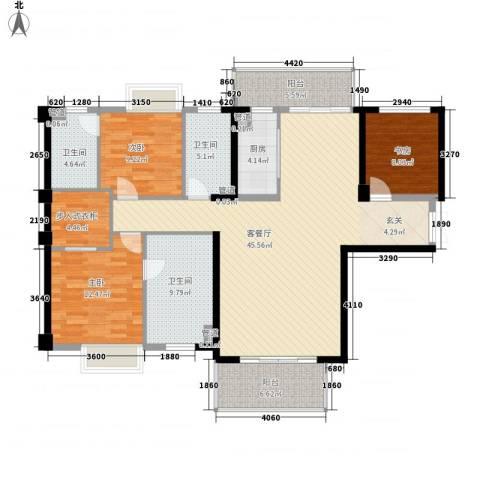 中骏天誉3室1厅3卫1厨164.00㎡户型图