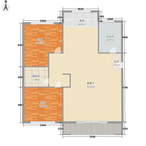柏林水郡2室1厅1卫0厨220.00㎡户型图