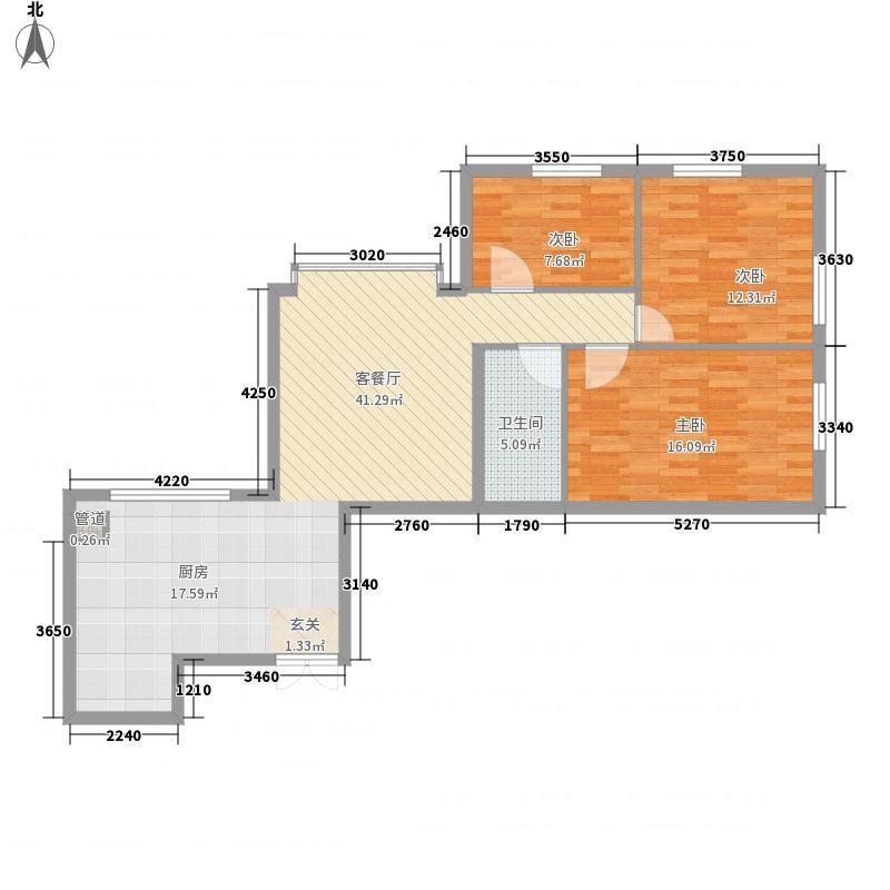 双龙绿色家园88.74㎡双龙绿色家园户型图3室1厅1卫1厨户型10室