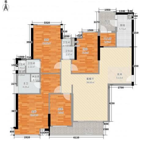 海伦湾4室1厅4卫1厨139.27㎡户型图