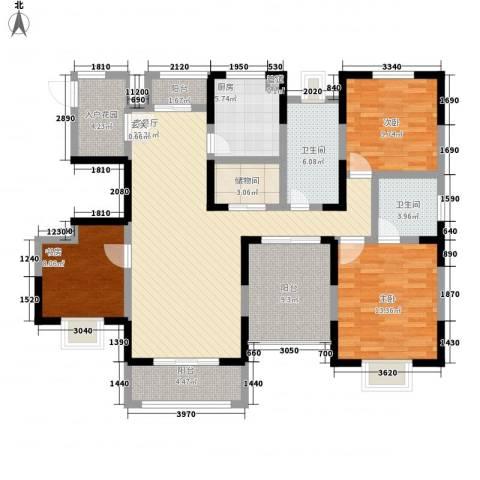 苏尚帝景3室1厅2卫1厨150.00㎡户型图