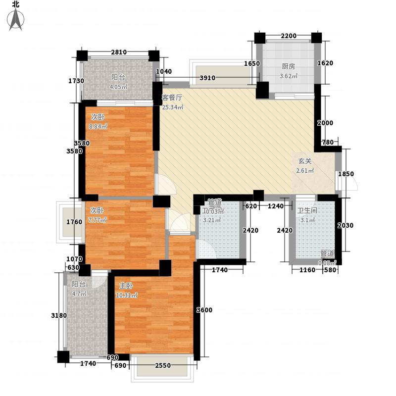 泰禾红峪106.00㎡泰禾红峪户型图A3#楼10单元户型图3室2厅2卫1厨户型3室2厅2卫1厨