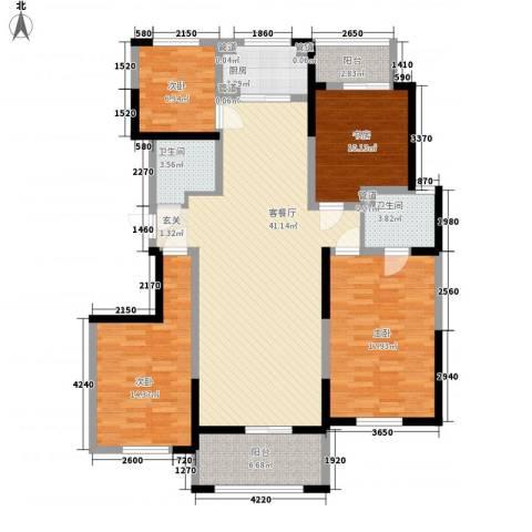 九鼎城4室1厅2卫1厨150.00㎡户型图