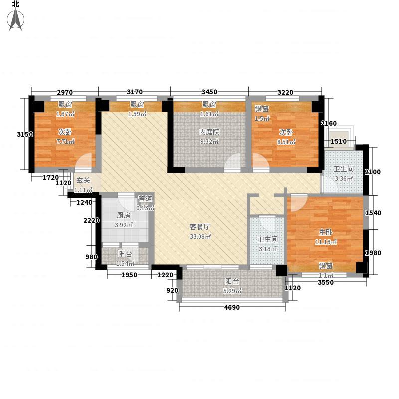 金悦领地128.00㎡金悦领地户型图C13室2厅2卫户型3室2厅2卫