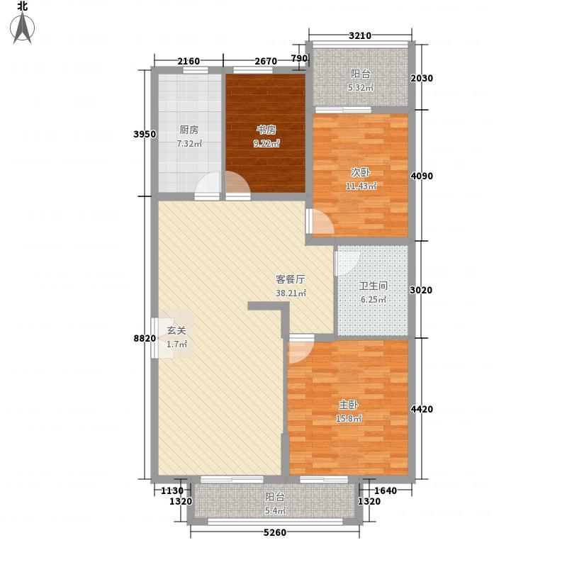中房名都139.00㎡中房名都户型图3室2厅1卫1厨户型10室