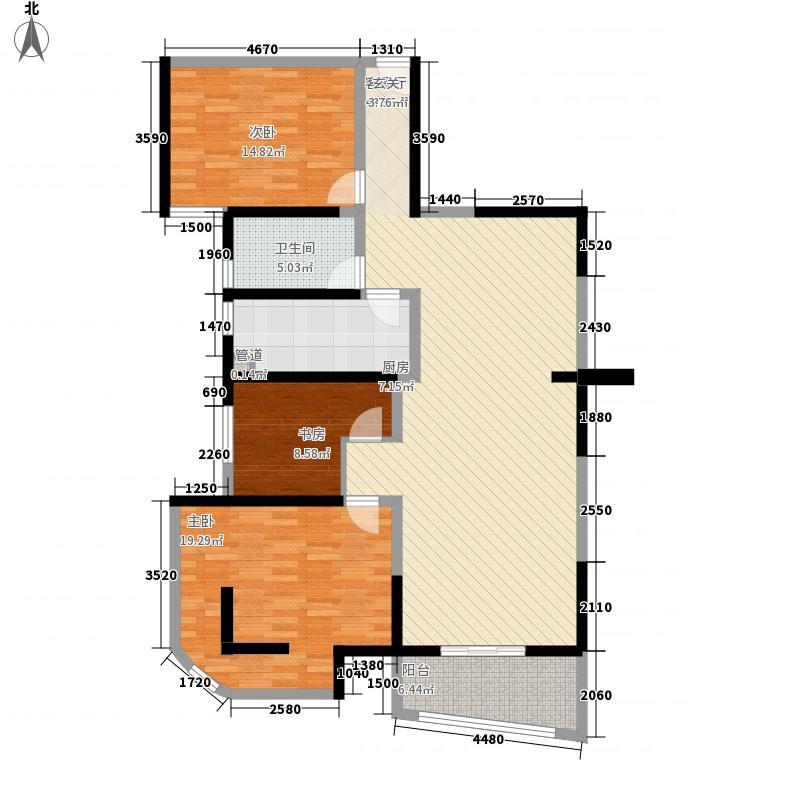 中房名都156.00㎡中房名都户型图3室2厅2卫1厨户型10室