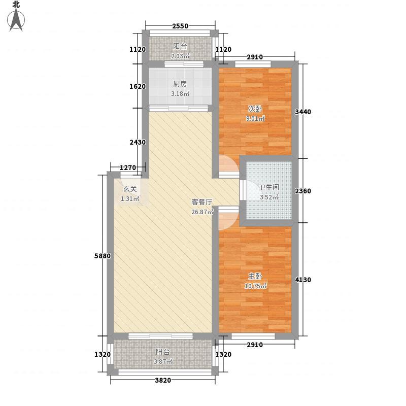 江南印象87.00㎡江南印象户型图87-1042室2厅户型2室2厅