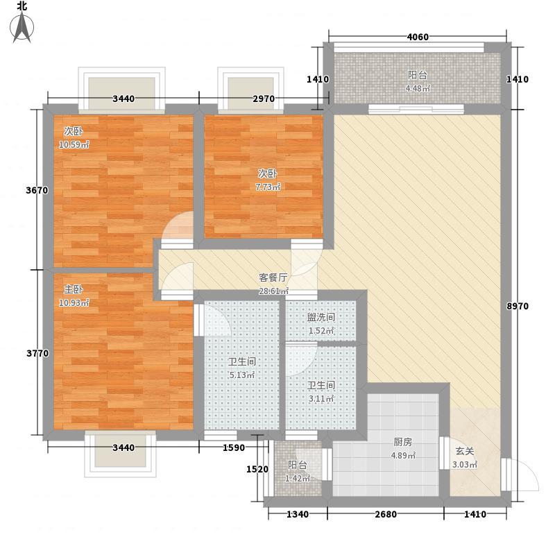 世纪城龙贤苑116.00㎡世纪城龙贤苑3室户型3室