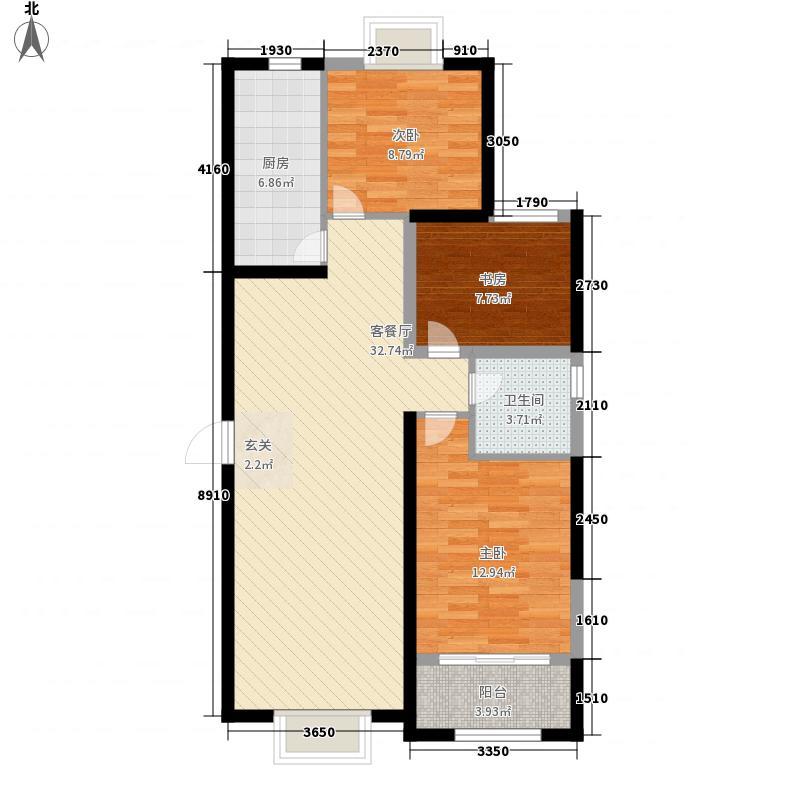 金玉山・世纪花园C户型3室2厅1卫