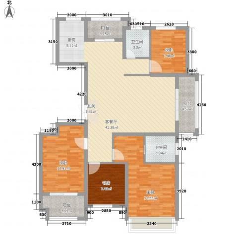 金色华府4室1厅2卫0厨151.00㎡户型图