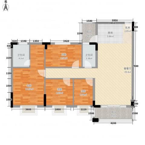 名尚轩4室1厅2卫0厨104.00㎡户型图