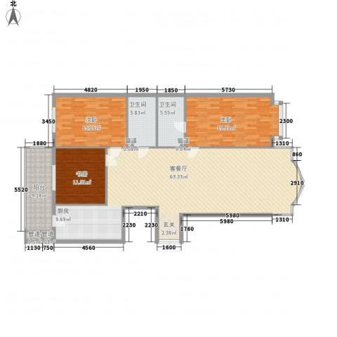 凯旋城3室1厅2卫0厨179.00㎡户型图