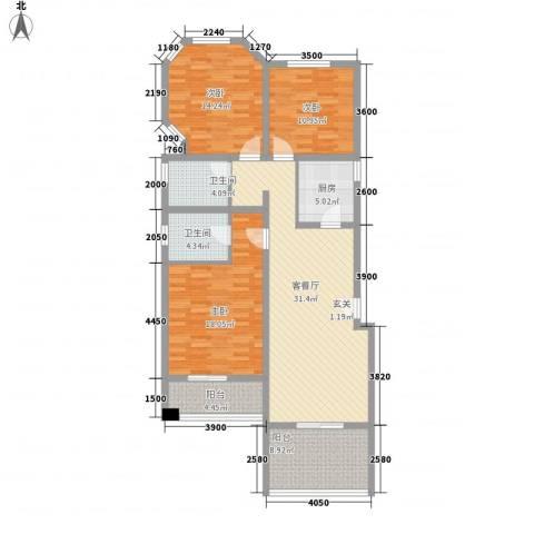 泉山森林海3室1厅2卫1厨116.00㎡户型图