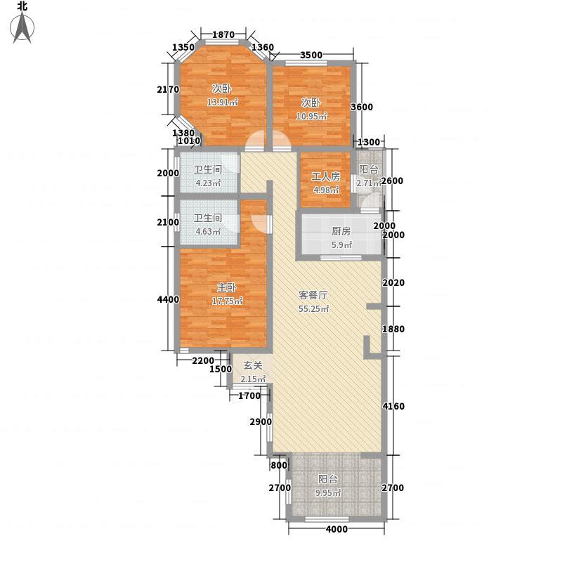 泉山森林海141.80㎡A一楼端户户型3室2厅2卫1厨