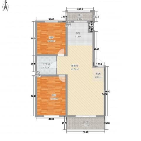 金杯住宅2室1厅1卫0厨115.00㎡户型图