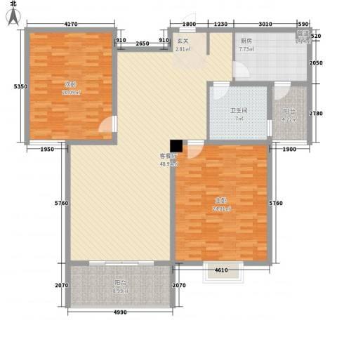 盛世华城2室1厅1卫1厨169.00㎡户型图