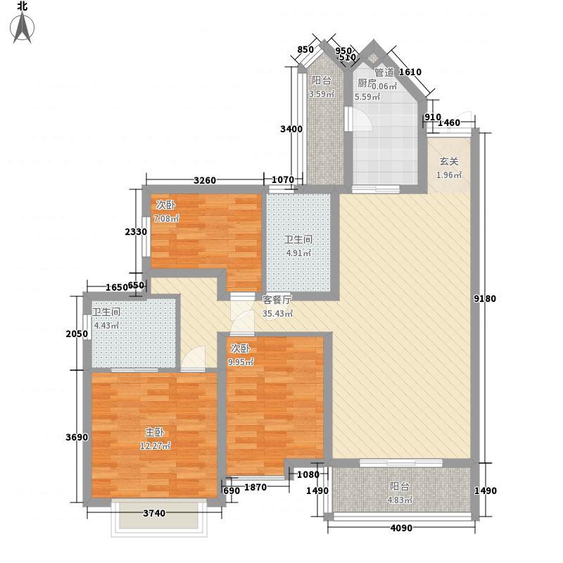 鸿瑞豪庭127.00㎡鸿瑞豪庭户型图B2户型3室2厅2卫1厨127平方米3室2厅2卫1厨户型3室2厅2卫1厨
