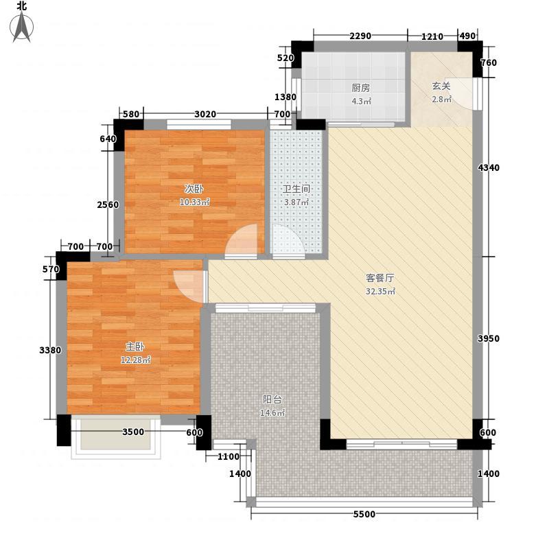 林语阳光89.00㎡林语阳光户型图122室2厅1卫1厨89.00㎡户型2室2厅1卫1厨