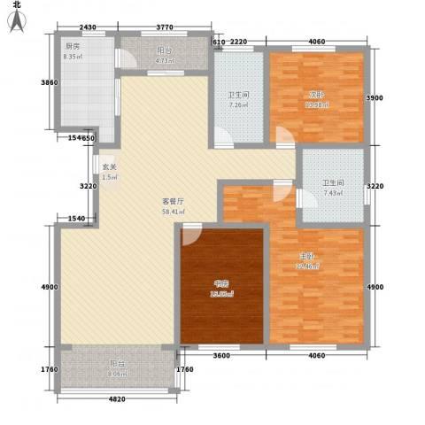 九合国际3室1厅2卫1厨179.00㎡户型图