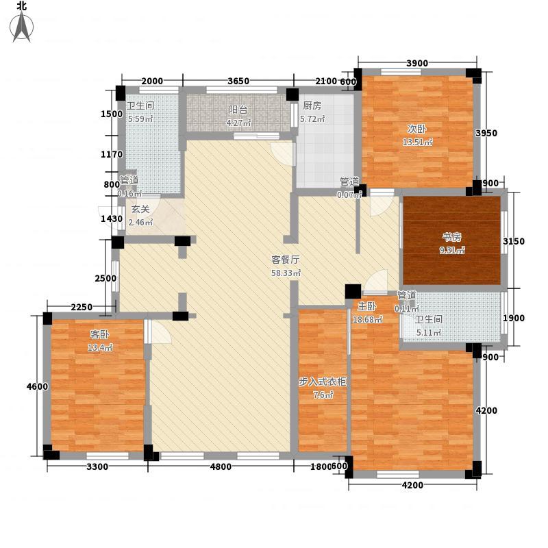 塘西新村户型5室2厅2卫1厨