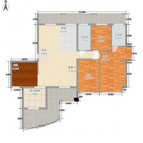 新港富海家园3室1厅2卫0厨210.00㎡户型图