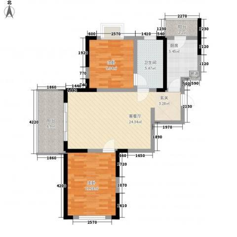 苏尚帝景2室1厅1卫1厨97.00㎡户型图