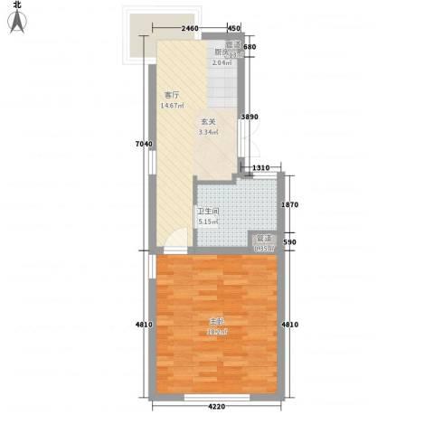 山水路8号1室1厅1卫0厨54.00㎡户型图