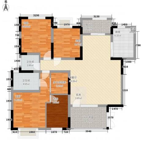 服装城昕利小区4室1厅2卫1厨150.00㎡户型图