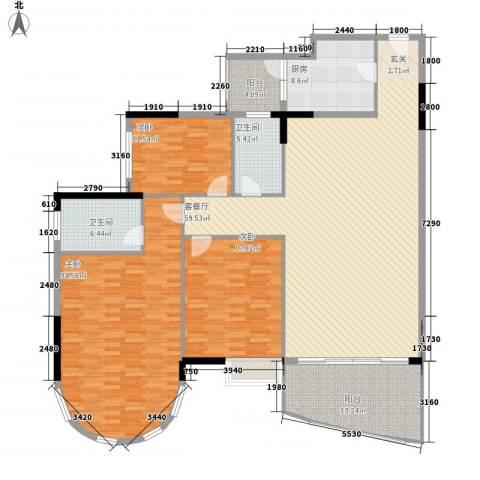 城南故事3室1厅2卫1厨202.00㎡户型图