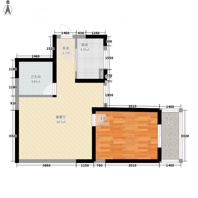海荣名城二期海荣名城二期户型图F户型1室1厅1卫1厨户型1室1厅1卫1厨