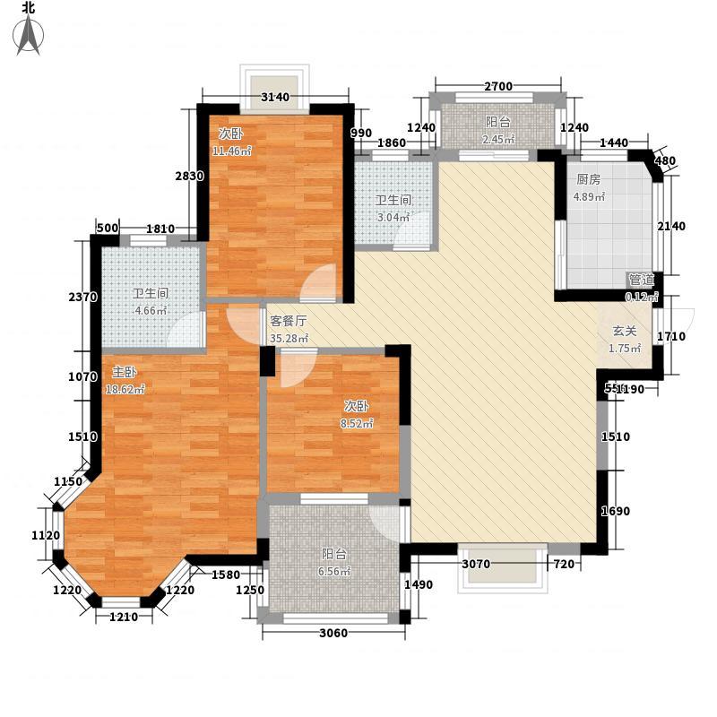居住主题公园115.00㎡枫丹白鹭1期4号楼户型
