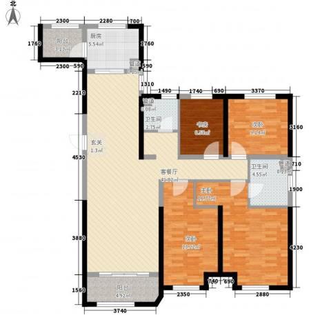 金地艺华年4室1厅2卫1厨135.00㎡户型图